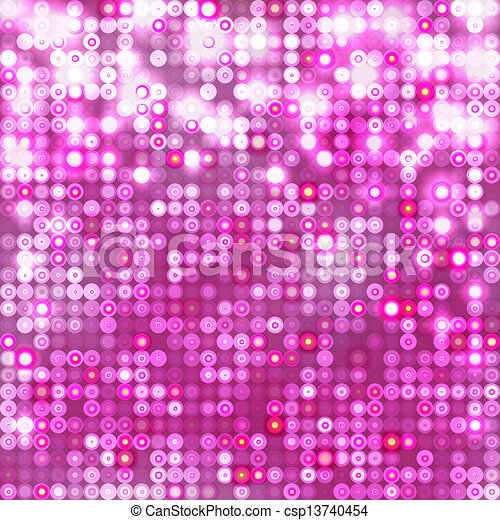 Pink abstract sparkling background with circles - csp13740454