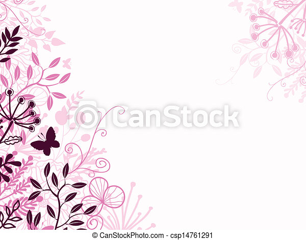 Pink and black floral background backdrop - csp14761291