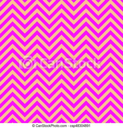 Pink And Gold Chevron Pattern