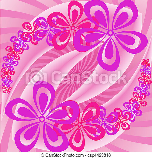 Pink and purple flowers - csp4423818