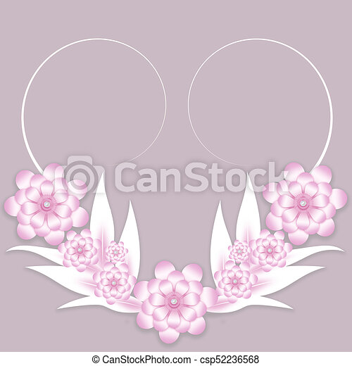 Pink and white paper flowers background for wedding invitation or pink and white paper flowers background csp52236568 mightylinksfo