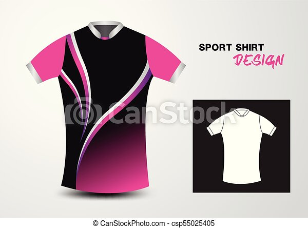 8872b5cb Pink And White Sport Shirt Design Vector Illustration,sport T-Shirt,uniform  Design,clothes Vector