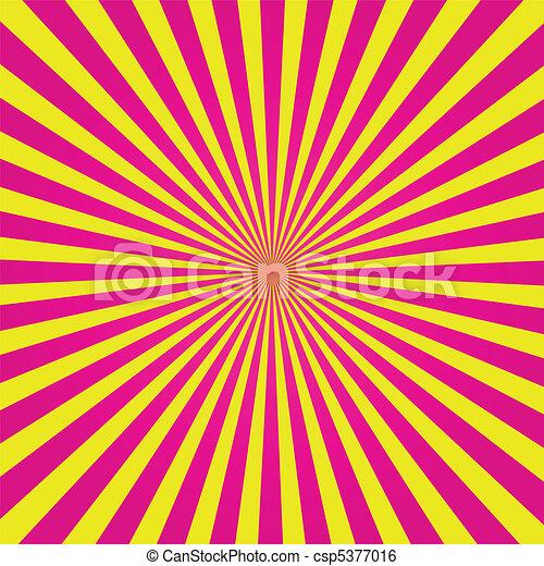 Pink and Yellow Sunburst - csp5377016