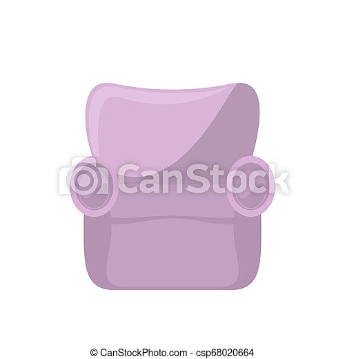 Pink armchair isolated on white - csp68020664