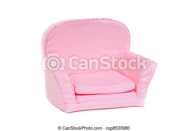 Pink armchair isolated on white background - csp8530980