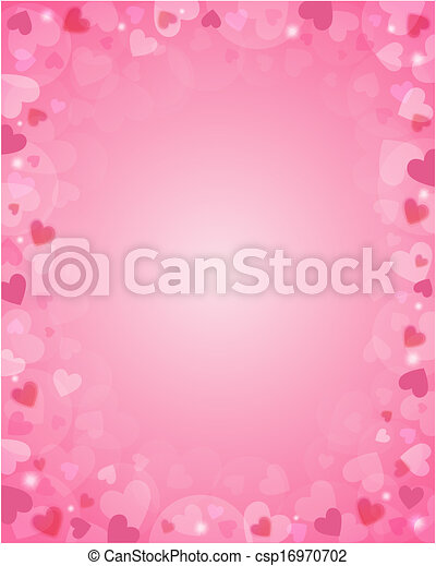 Pink background from hearts - csp16970702