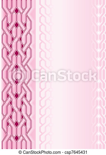 Pink background with pattern - csp7645431
