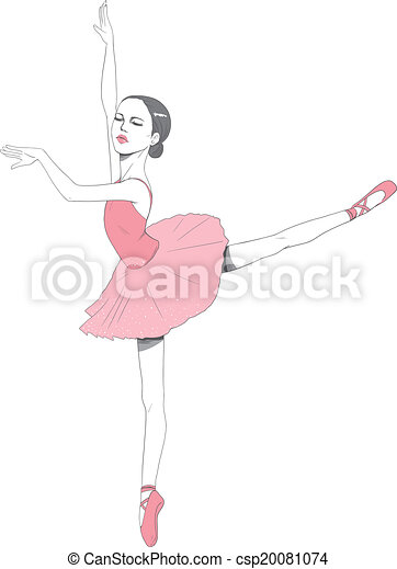 Pink Ballerina Tutu Dress Vector