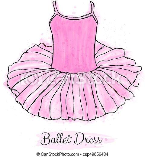 9a6d8479e46b Pink ballerina tutu dress. Performance ballet dance dress. - csp49856434