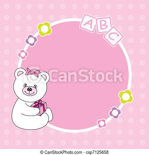 Pink bear framework - csp7125658