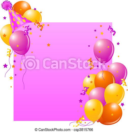 Pink Birthday card - csp3815766