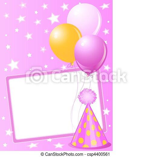 Pink Birthday card - csp4400561