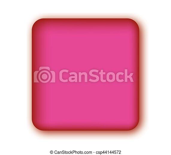 Pink Blank Button - csp44144572