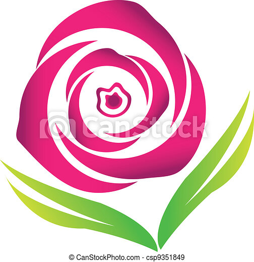 pink blossom rose vector logo image stock eps vectors search clip rh canstockphoto com rose flower vector art rose flower vector art
