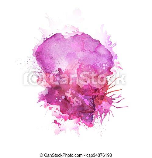pink blots - csp34376193