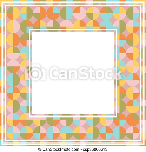 pink blue border csp36866613