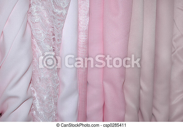 Pink Bolts of Fabric - csp0285411
