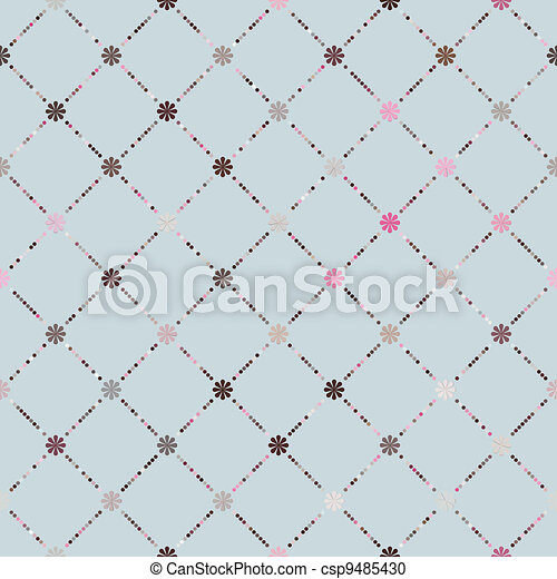 Pink brown colorful seamless pattern. EPS 8 - csp9485430