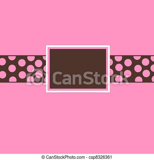 pink brown polka dot invite pink and brown polka dot invite or