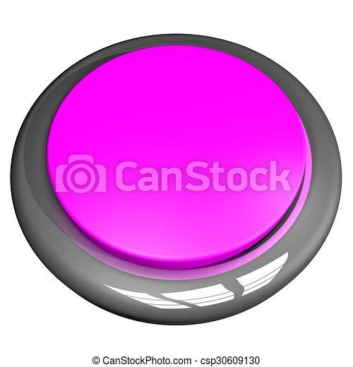 Pink Button - csp30609130