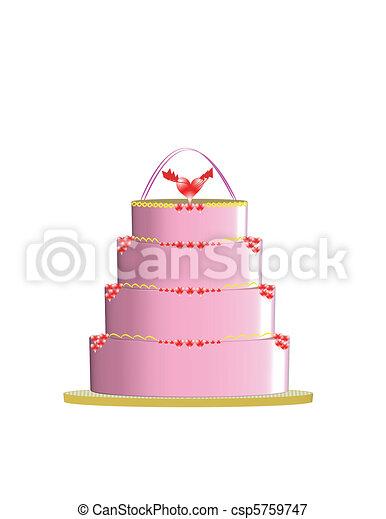 pink cake - csp5759747