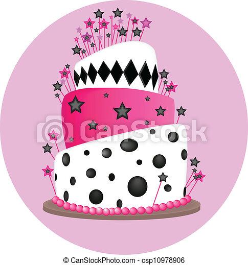 pink cake - csp10978906