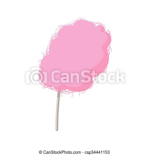 Pink candy floss cartoon icon - csp34441153