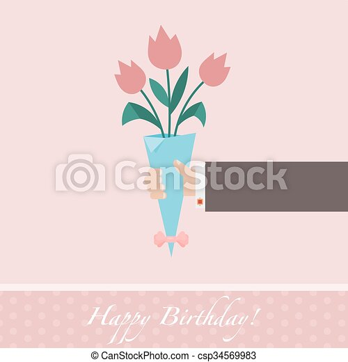 Pink celebratory background  - csp34569983