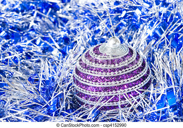 pink christmas ball with decoration - csp4152990