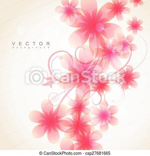 Pink Color Flower Elegant Soft Pink Color Flowers Vector