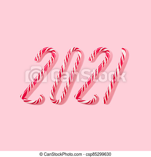 pink conceptual composition on a New Year's theme. - csp85299630