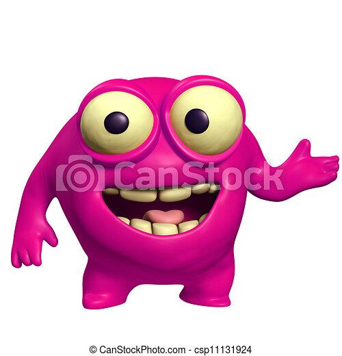 pink cute monster - csp11131924