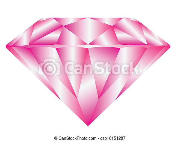 Line Drawing Diamond : Pink diamond. diamond anatomy pattern in standard cut for vector
