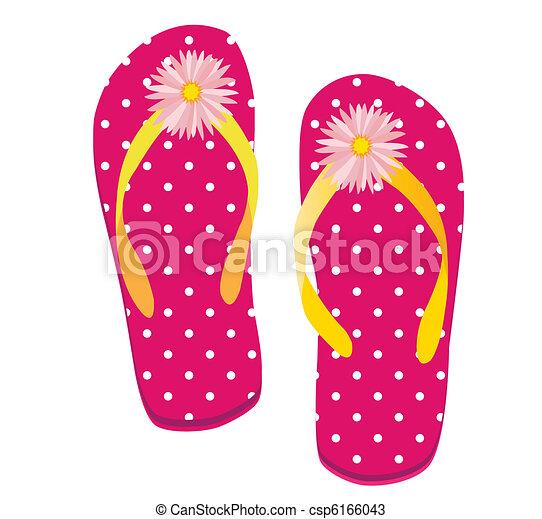 Pink Dot Flip flop - csp6166043