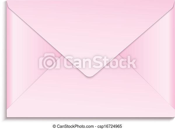 pink envelope rh canstockphoto com Damask Clip Art Envelope Red Envelope Clip Art