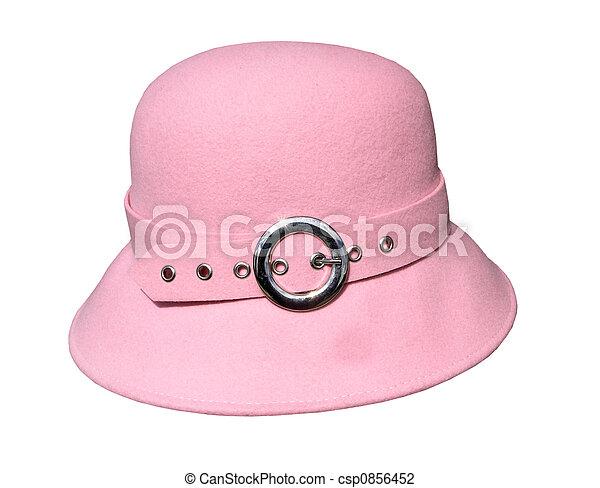 Pink Felt Hat - csp0856452