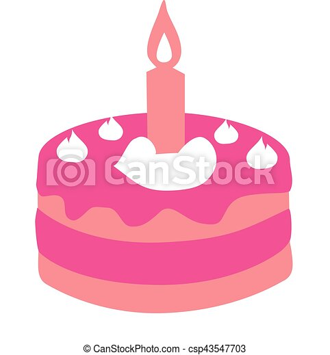 pink first birthday cake vector clipart search illustration rh canstockphoto com first birthday clipart free first birthday clipart free