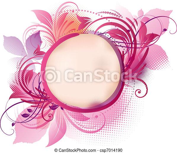 Pink Floral Background - csp7014190