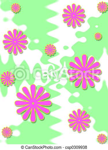 Pink floral design - csp0309938