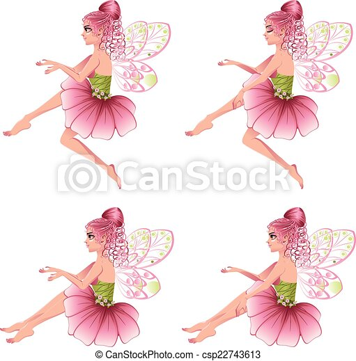 Pink floral fairy cute cartoon fairy with pink hair in flower dress pink floral fairy csp22743613 mightylinksfo