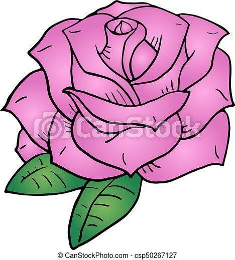 Creative design of pink flower draw pink flower draw csp50267127 mightylinksfo