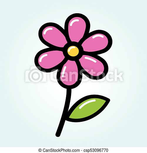 Illustration of pink flower drawing concept pink flower drawing concept csp53096770 mightylinksfo