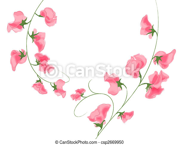 Illustration drawing of pink flower in a white background pink flower csp2669950 mightylinksfo