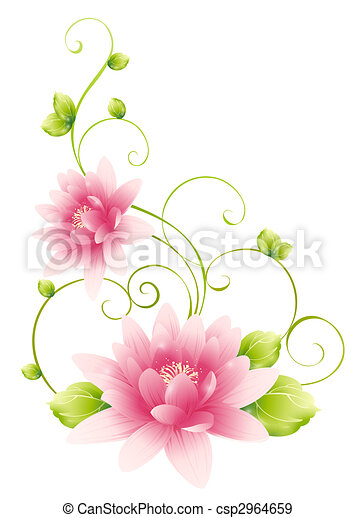 Drawing of pink flower in a white background pink flower csp2964659 mightylinksfo