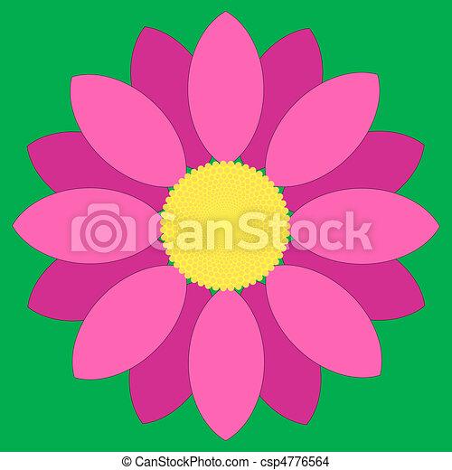 Simple pink flower design eps vector search clip art pink flower csp4776564 mightylinksfo