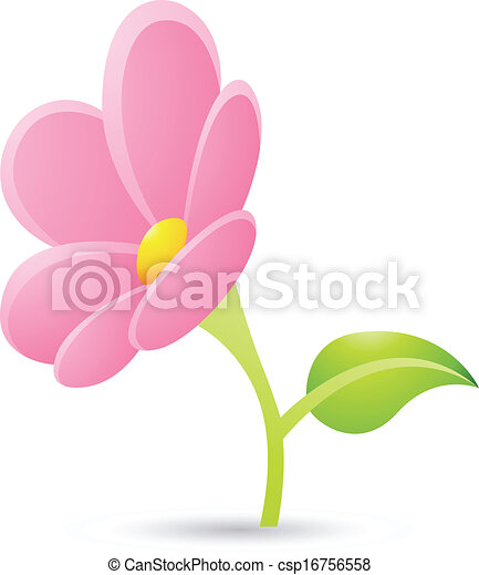 Illustration of pink flower icon isolated on a white clipart pink flower icon csp16756558 mightylinksfo Choice Image