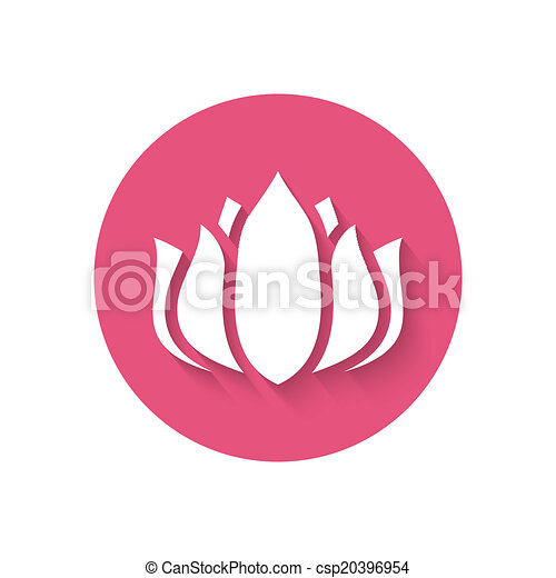 Pink flower icon vector illustration eps 10 clipart vector pink flower icon csp20396954 mightylinksfo Choice Image