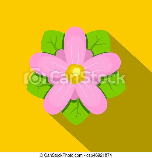 Pink flower icon flat style pink flower icon flat vectors pink flower icon flat style csp46921874 mightylinksfo Choice Image
