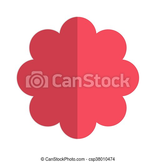 Flat design pink flower icon vector illustration vectors pink flower icon csp38010474 mightylinksfo Choice Image