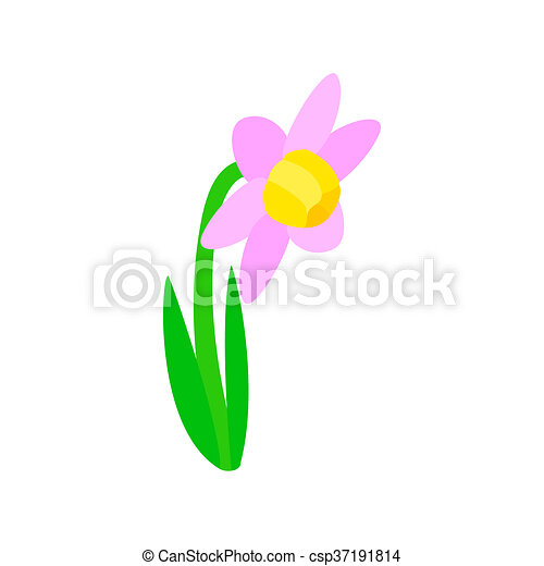 Pink flower icon isometric 3d style pink flower icon in isometric pink flower icon isometric 3d style csp37191814 mightylinksfo